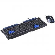 Teclado e Mouse Grifo Vinik VX Gaming, Led azul, 1.8M
