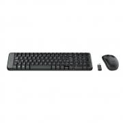 Teclado e Mouse  MK220 Logitech,  Sem Fio Compacto Preto ABNT2 - 920-004431