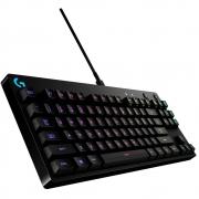Teclado mecânico Gamer G PRO, Logitech,  RGB, Design Tenkeyless, Switch GX Clicky Azul, US - 920-009388