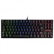 Teclado mecânico Gamer Kumara ,Redragon RGB, switch outemu blue, PT - K552RGB-1