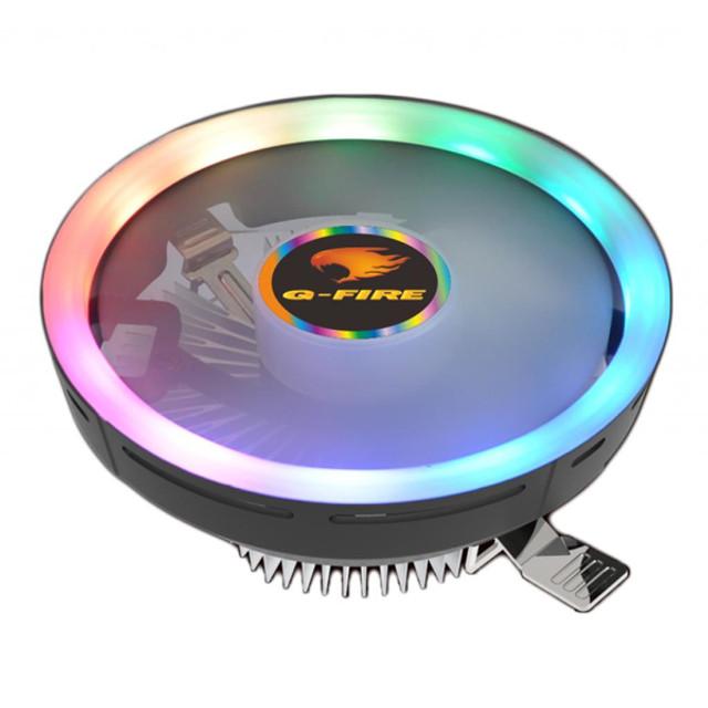 Cooler p/ gabinete pixxo ewc4r intel/amd RGB 124X120X69MM