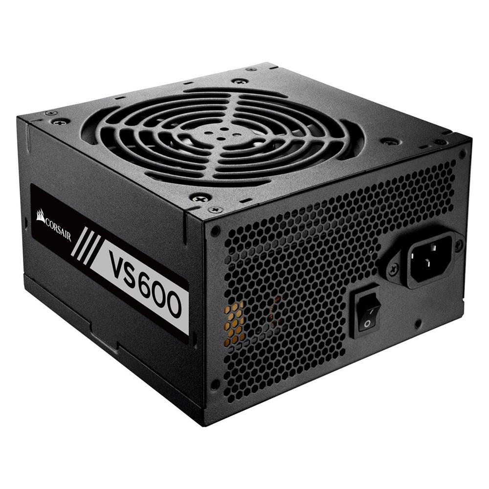 Fonte Corsair VS600, 600W, 80 Plus