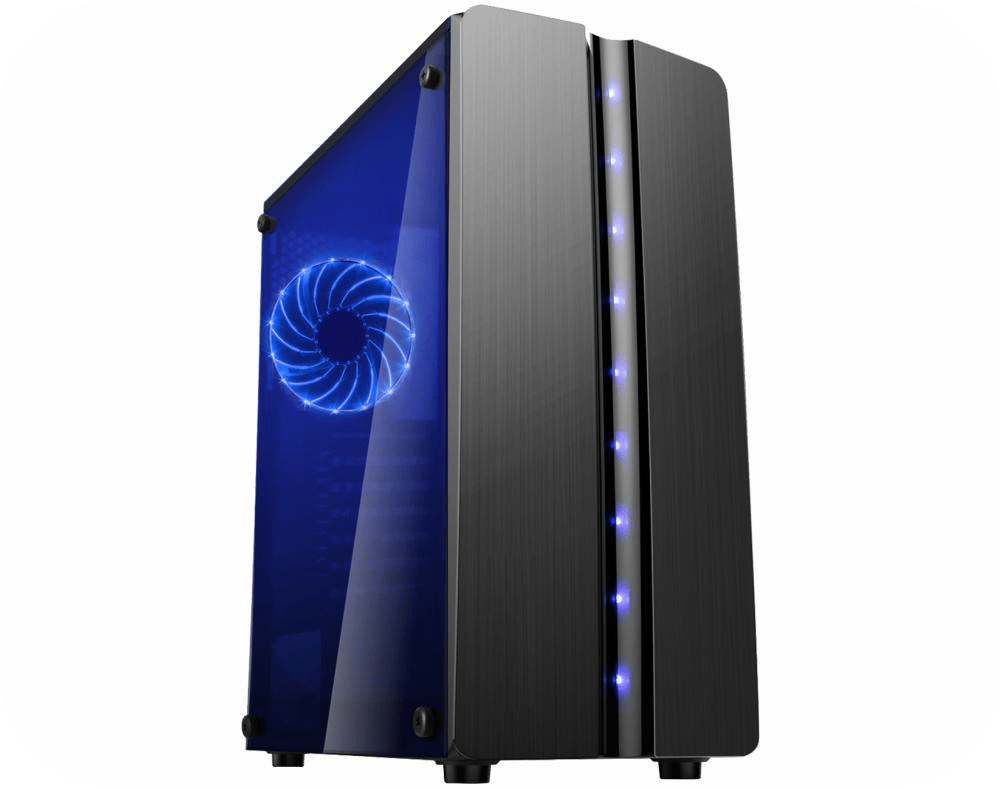 Gabinete Gamer ATX K-MEX Blue MATRIX CG-06R8