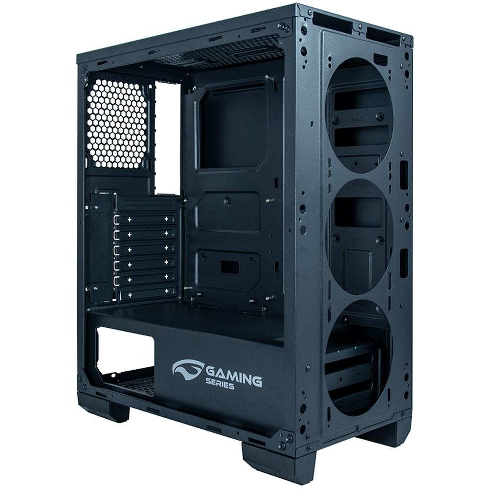 Gabinete Gamer C3 Tech sem Fonte, Mid Tower, USB 3.0, 3 Fans RGB, Preto com Lateral em Acrílico - MT-G800BK