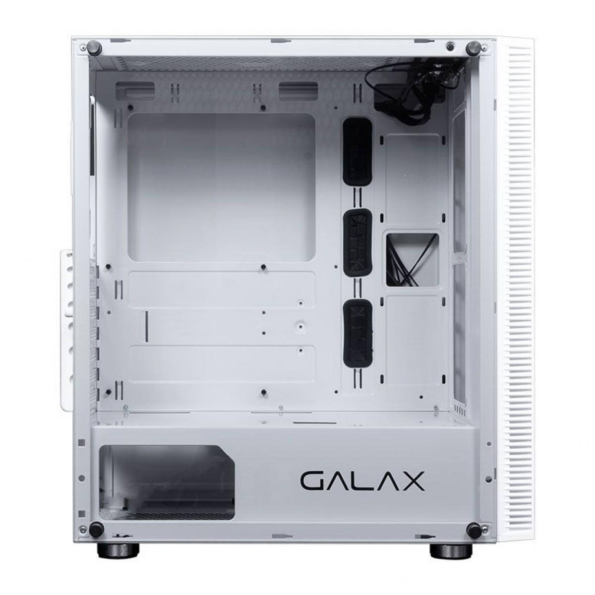 Gabinete Gamer Galax Quasar RGB, Mid Tower, Vidro Temperado, Branco, Sem Fonte, Sem Fan, GX600 WH