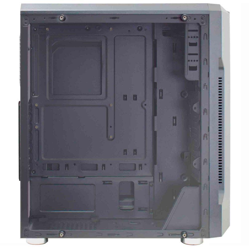 Gabinete Gamer K-Mex Bifrost CG-02QI Barra LED RGB Preto Sem Fonte