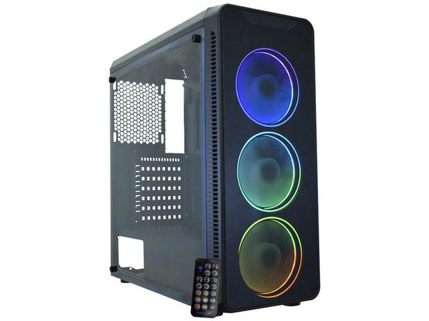 Gabinete Gamer K-mex Infinity  Streamer 3  C/FAns