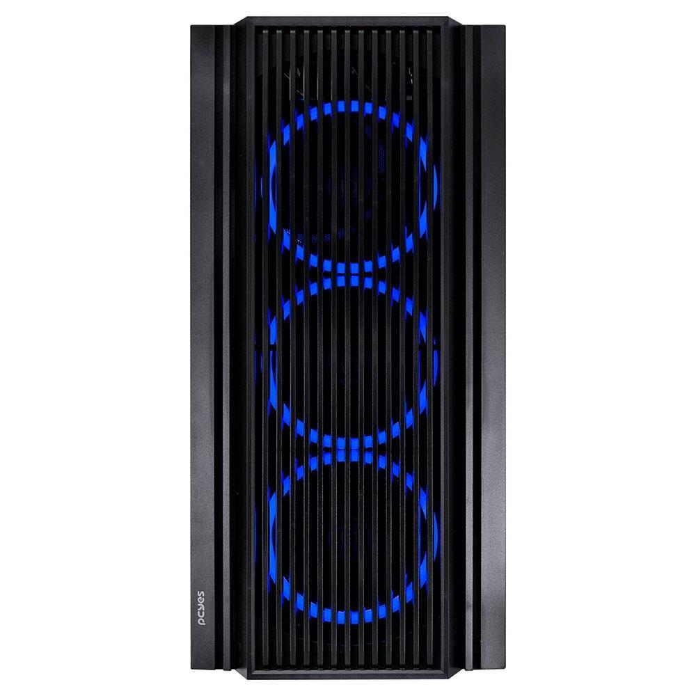 Gabinete Gamer PCYes Atmos, 4x Fans LED Azul, Preto - 33873