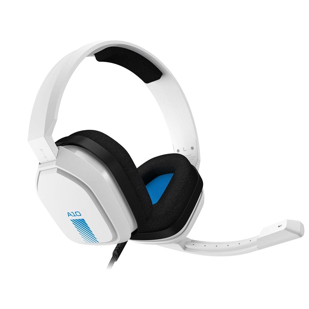 Headset ASTRO gaming A10 para PlayStation, Nintendo switch, PC e Xbox - branco/azul