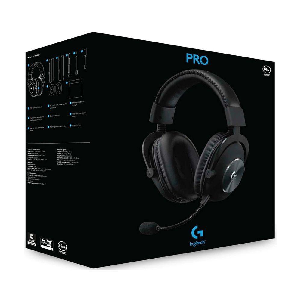 Headset Logitech Gamer PRO X 7.1