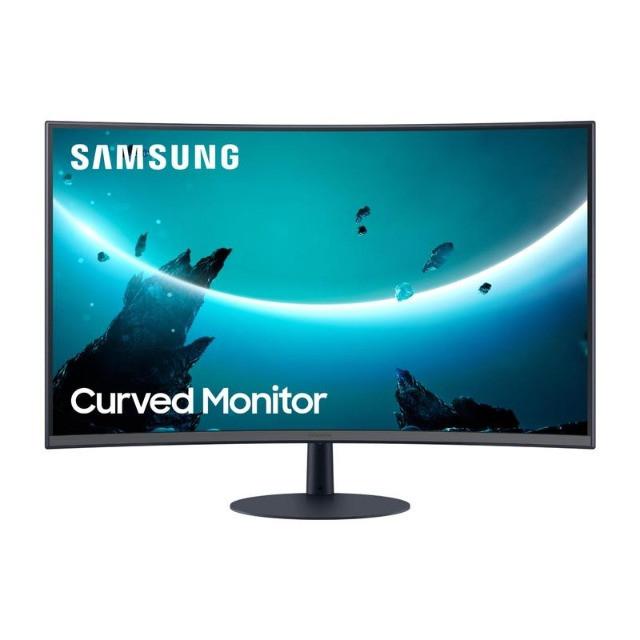 "Monitor Curvo Samsung 32"" LC32T550FDLXZD AMD FreeSync 75Hz HDMI Display Port Curvatura 1000R Preto"