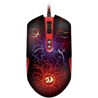 Mouse gamer  Lavawolf  V2 Redragon, Preto - M701-A