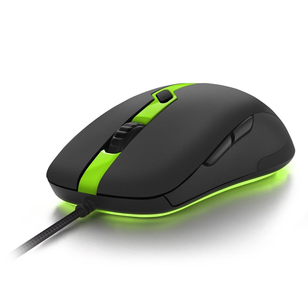 Mouse Gamer  Shark Force Pro  Sharkoon, Verde , Led.