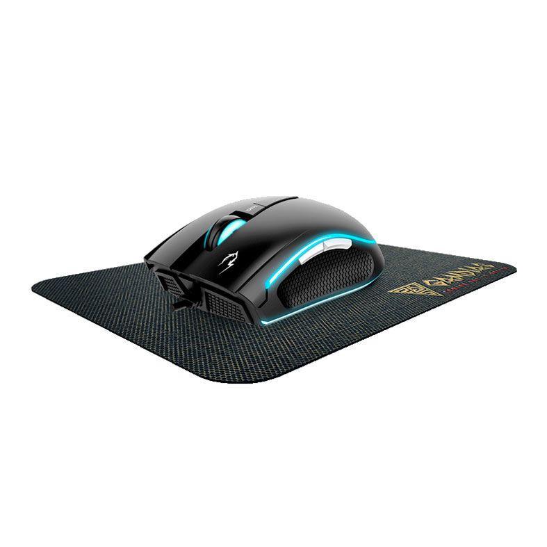 Mouse Gamer  ZEUS E1A RGB + Mousepad Nyx E1,Zeus E1A-Nyx E1
