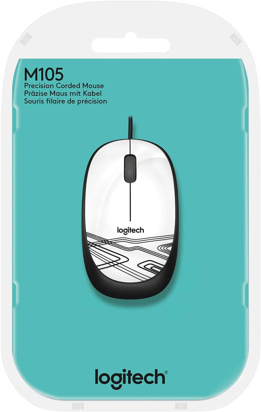 Mouse M105 Logitech, Branco - 910-003138