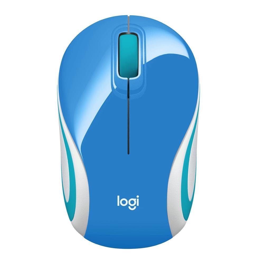 Mouse M187 Logitech, Mini, Sem Fio Azul  1000DPI -  910-005360