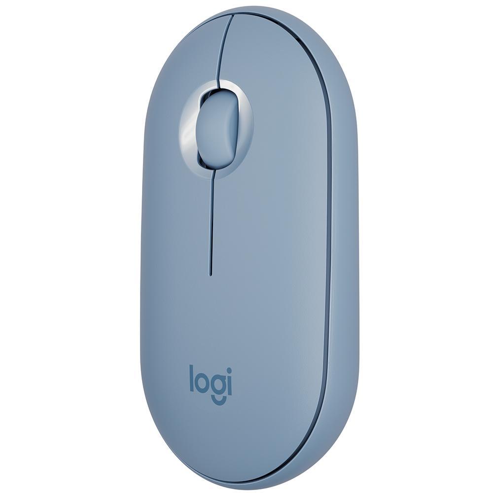 Mouse Pebble M350 Logitech , Sem Fio, Azul - 910-005773