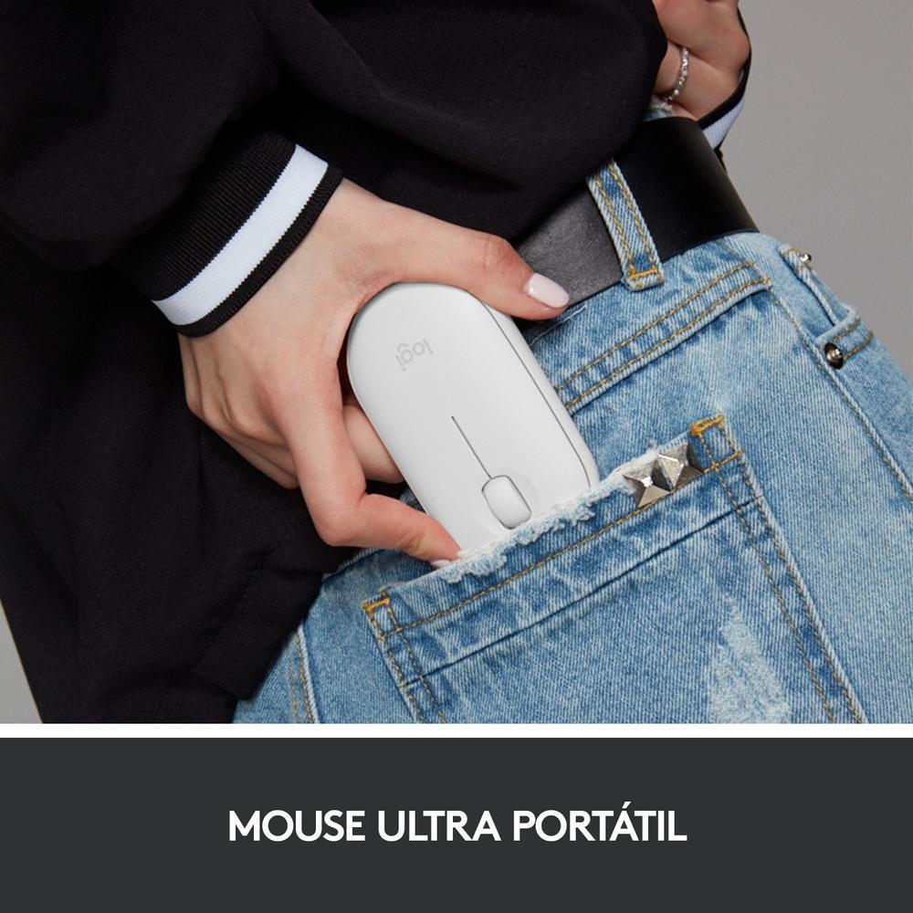 Mouse Pebble M350 Logitech , Sem Fio, Branco - 910-005770
