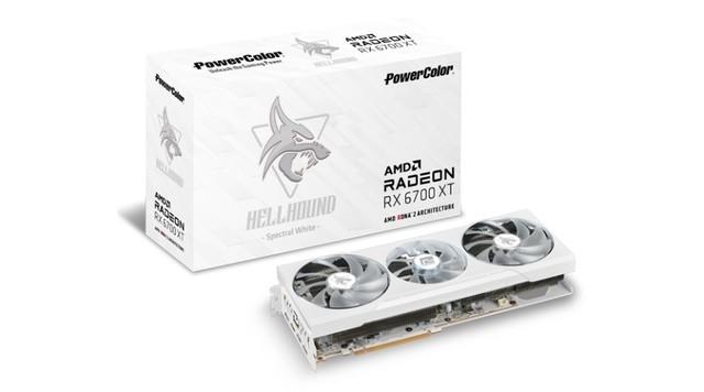 Placa de Vídeo Powercolor HellHound Spectral White Radeon Rx 6700 Xt 12gb gddr6 192bit