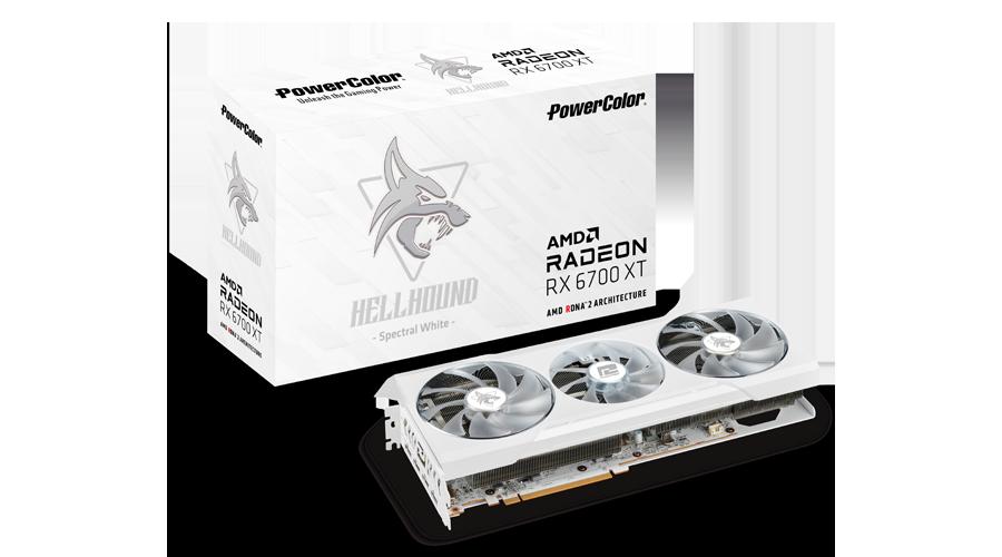 Placa de Vídeo Powercolor HellHound Spectral White Radeon Rx 6700 Xt 12gb gddr6 192bits
