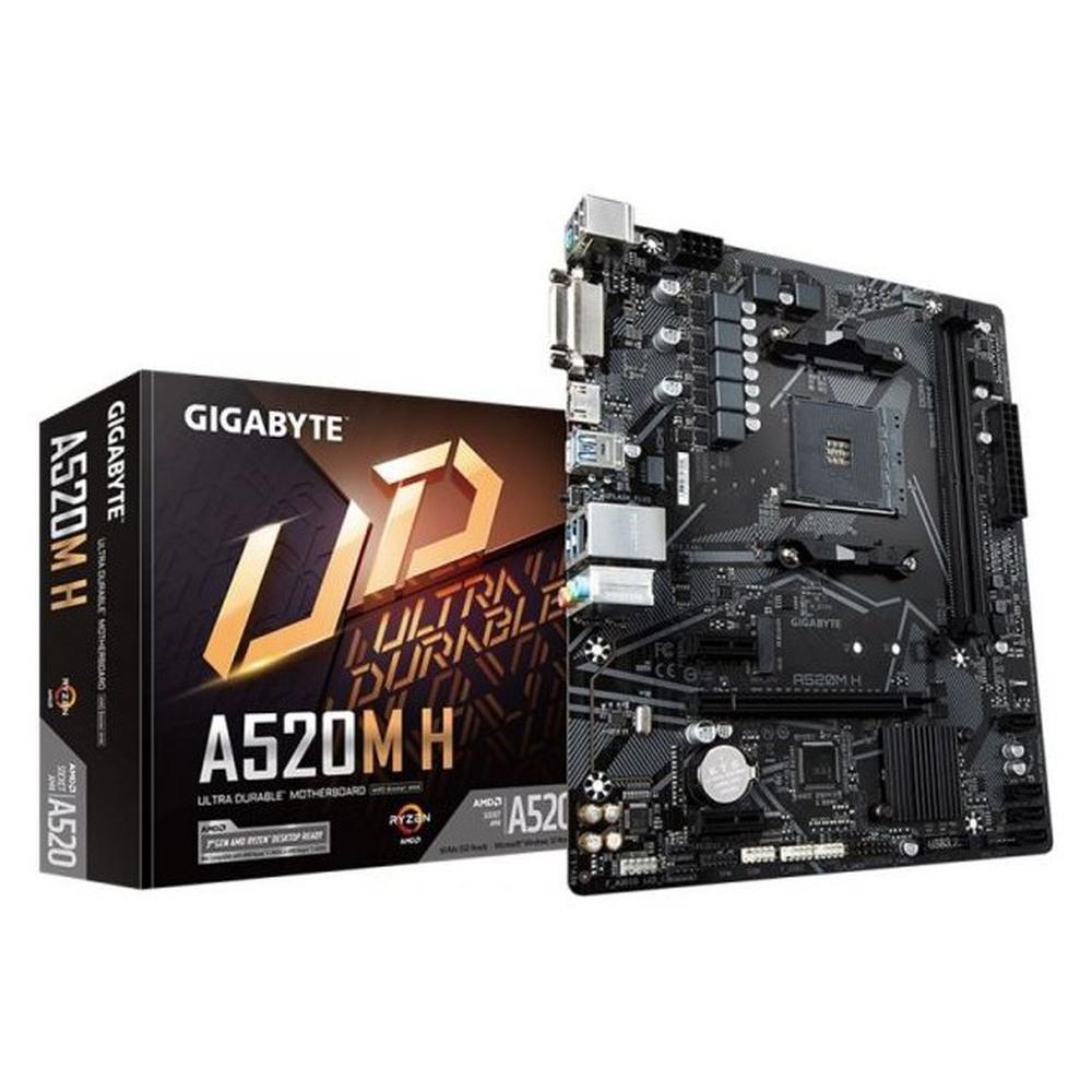 Placa Mae Gigabyte A520M-H DDR4 Am4