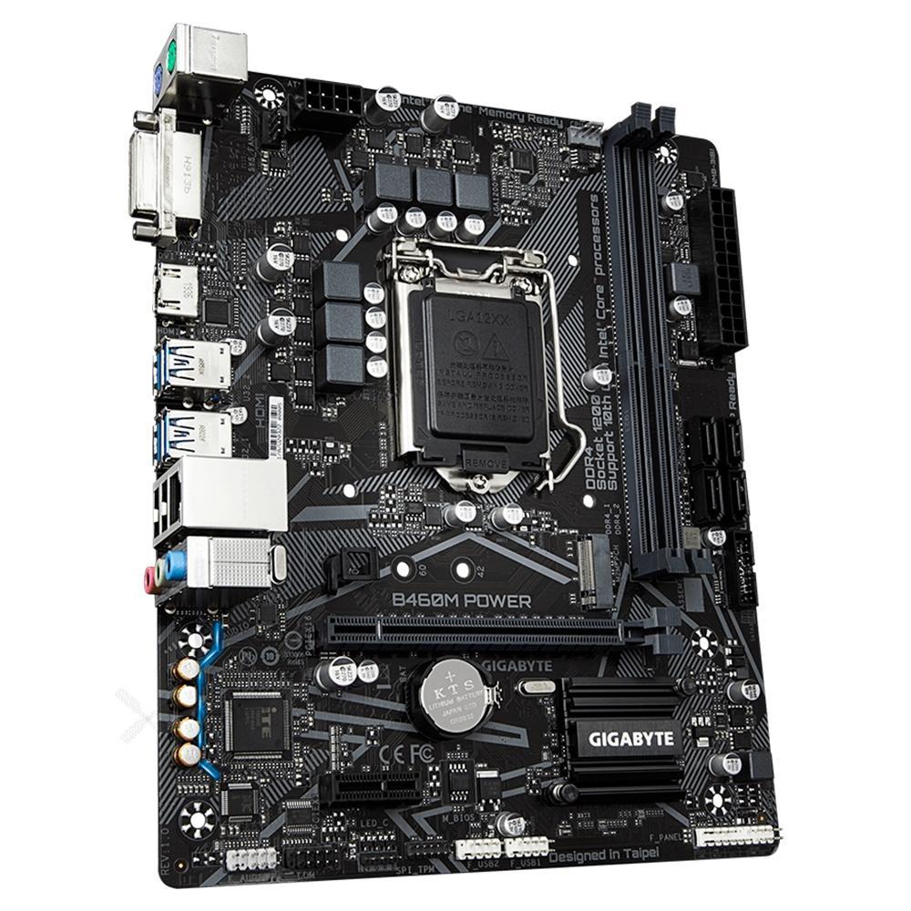 Placa Mãe Gigabyte B460M POWER, Intel LGA, 1200 DDR4