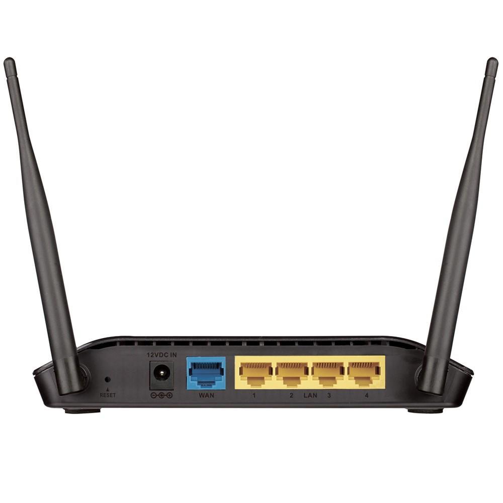 Roteador D-Link 300Mbps, dual antena 5dBi, IPv6, modo repetidor, bivolt, preto, 2 antenas - DIR-615