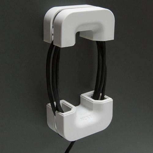 Suporte para Headset com Gerenciamento de Cabo Puck Branco