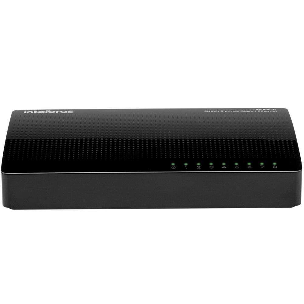 Switch Intelbras SG 800Q+, 8 Portas Giga 10/100/1000Mbps - 4760035