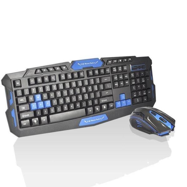 Teclado e Mouse  B Max, Sem Fio, Preto, HK-8100