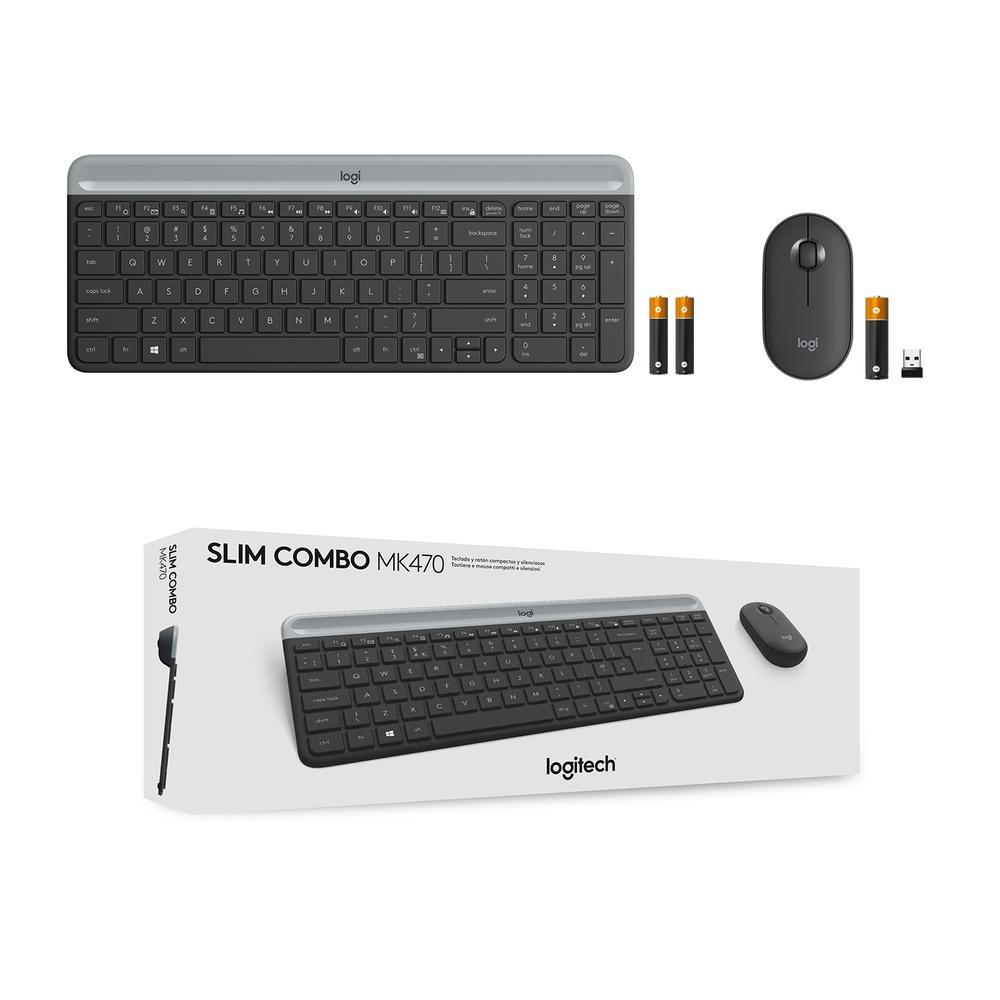 Teclado e Mouse MK470, Logitech ,  Slim Ultrafino, Teclas Silenciosas, Plug And Play - 920-009268