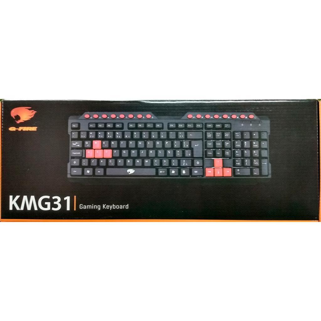 Teclado Gamer Kmg31 G-fire, Preto /vermelho -