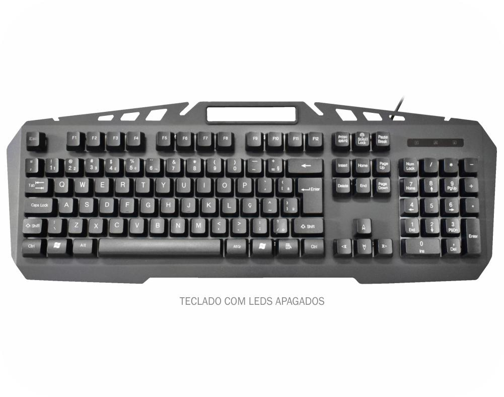Teclado Gamer Spartacus, K-mex Gaming Master, Com Led - Kb-A328