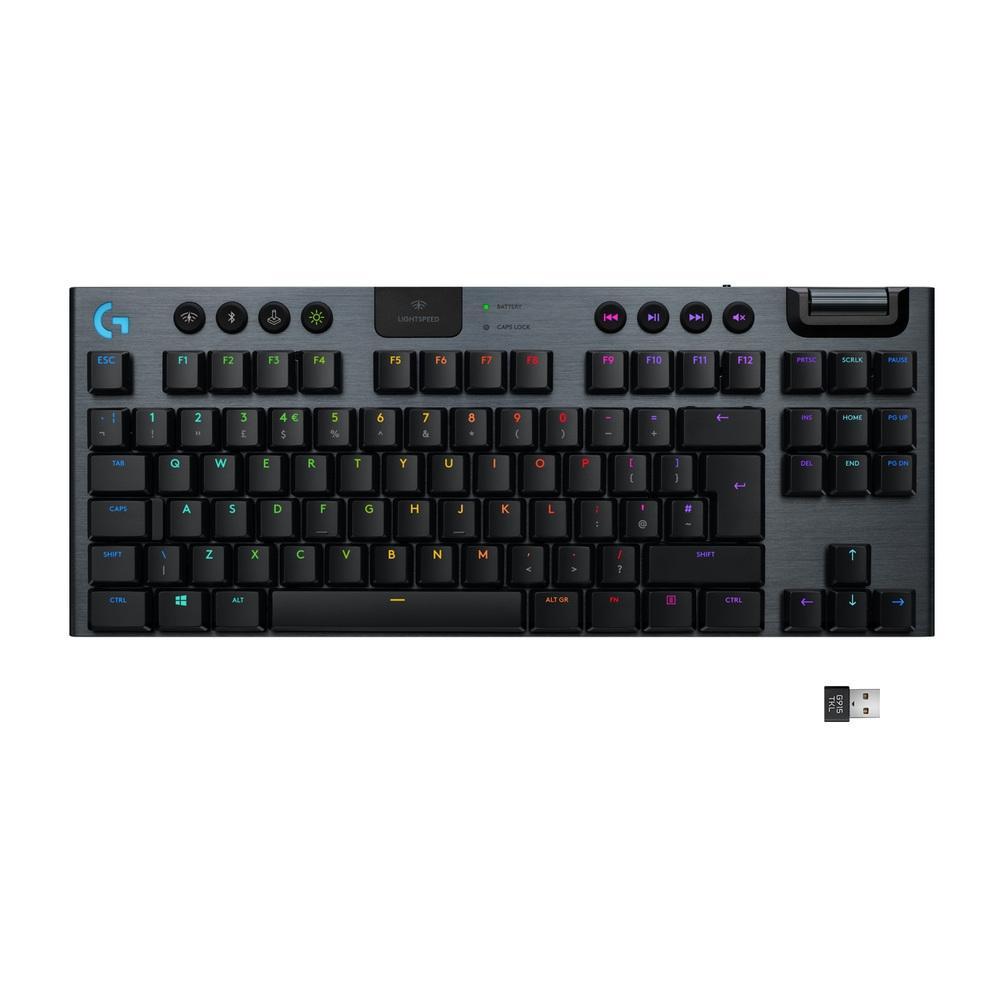 Teclado mecânico Gamer G915, Logitech,  Bluetooth, Design Tenkeyless, RGB, Switch GL Tactile marrom, US - 920-009495