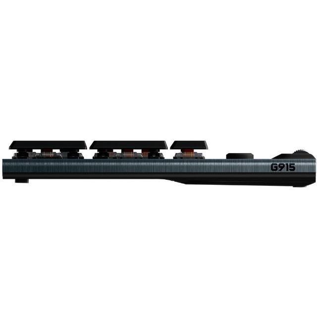 Teclado mecânico Gamer G915, Logitech, sem fio, Bluetooth, Design ultrafino, RGB, switch GL tactile marrom, US - 920-008902