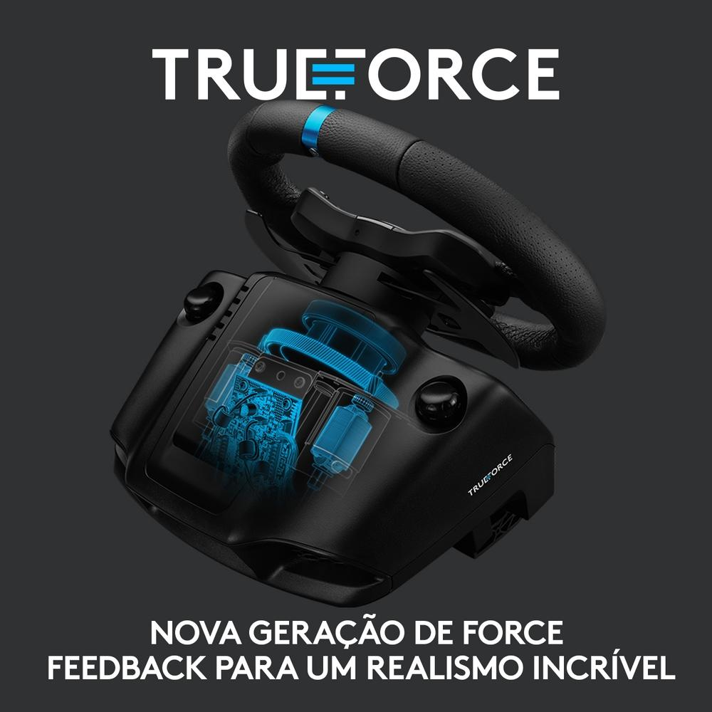 Volante Logitech G923, PS5, PS4, PC com Force Feedback TRUEFORCE - 941-000148