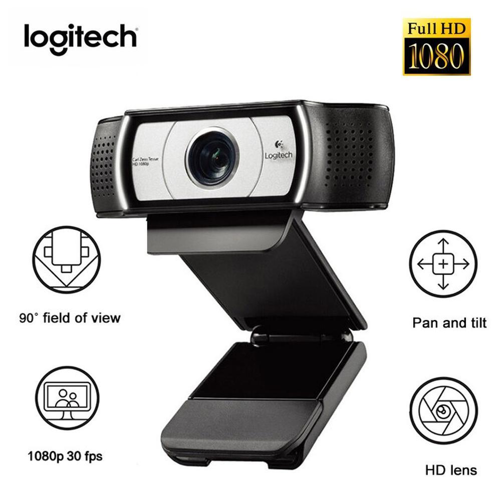 Webcam C930E Logitech HD 1080P com microfone