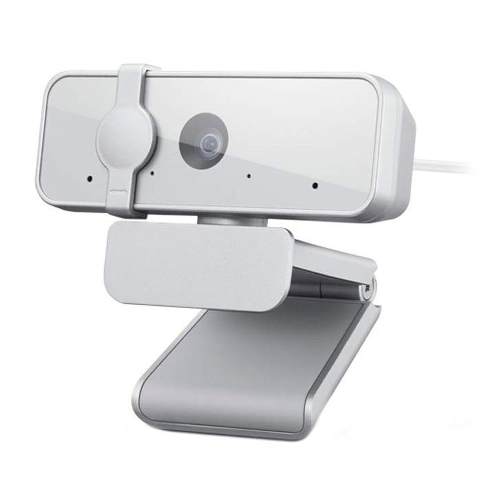 Webcam Lenovo 300 Full HD Com Microfone Integrado, 1080p 30fps, USB, Cinza Claro