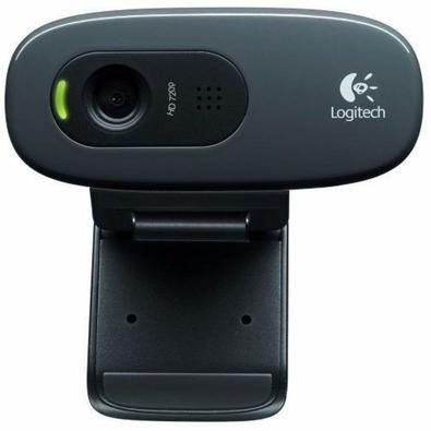 WebCam Logitech C505 com Microfone, Com Vídeo Panorâmico HD de 720p/30fps,