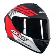 CAPACETE AXXIS DRAKEN Z96 MATTE BLACK/RED/WHITE 56/S