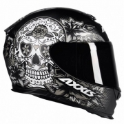 CAPACETE AXXIS EAGLE SKULL MATTE BLACK/GREY 60/L