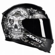 CAPACETE AXXIS EAGLE SKULL MATTE BLACK/GREY 60/L