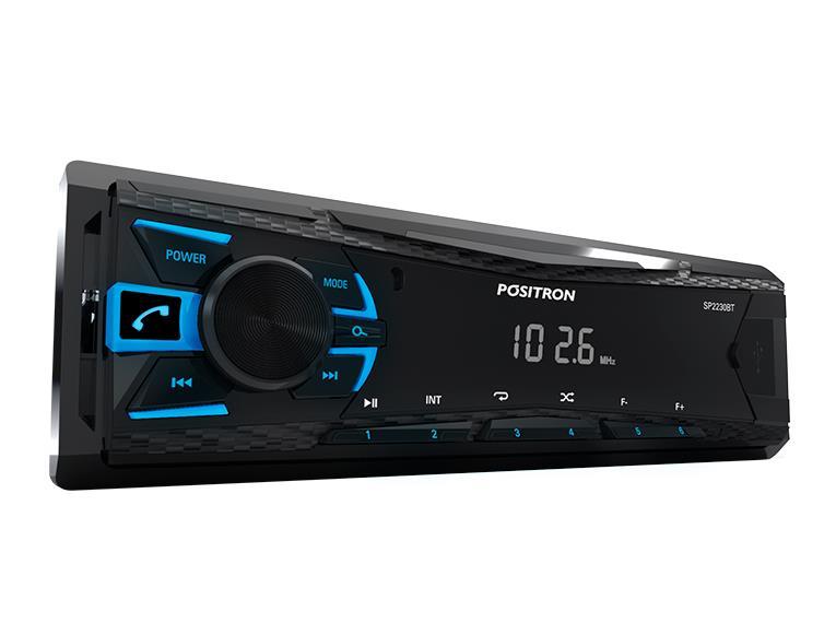 APARELHO DE SOM AUTOMOTIVO BLUETOOTH POSITRON SP2230BT Música de Qualidade para seu Carro!