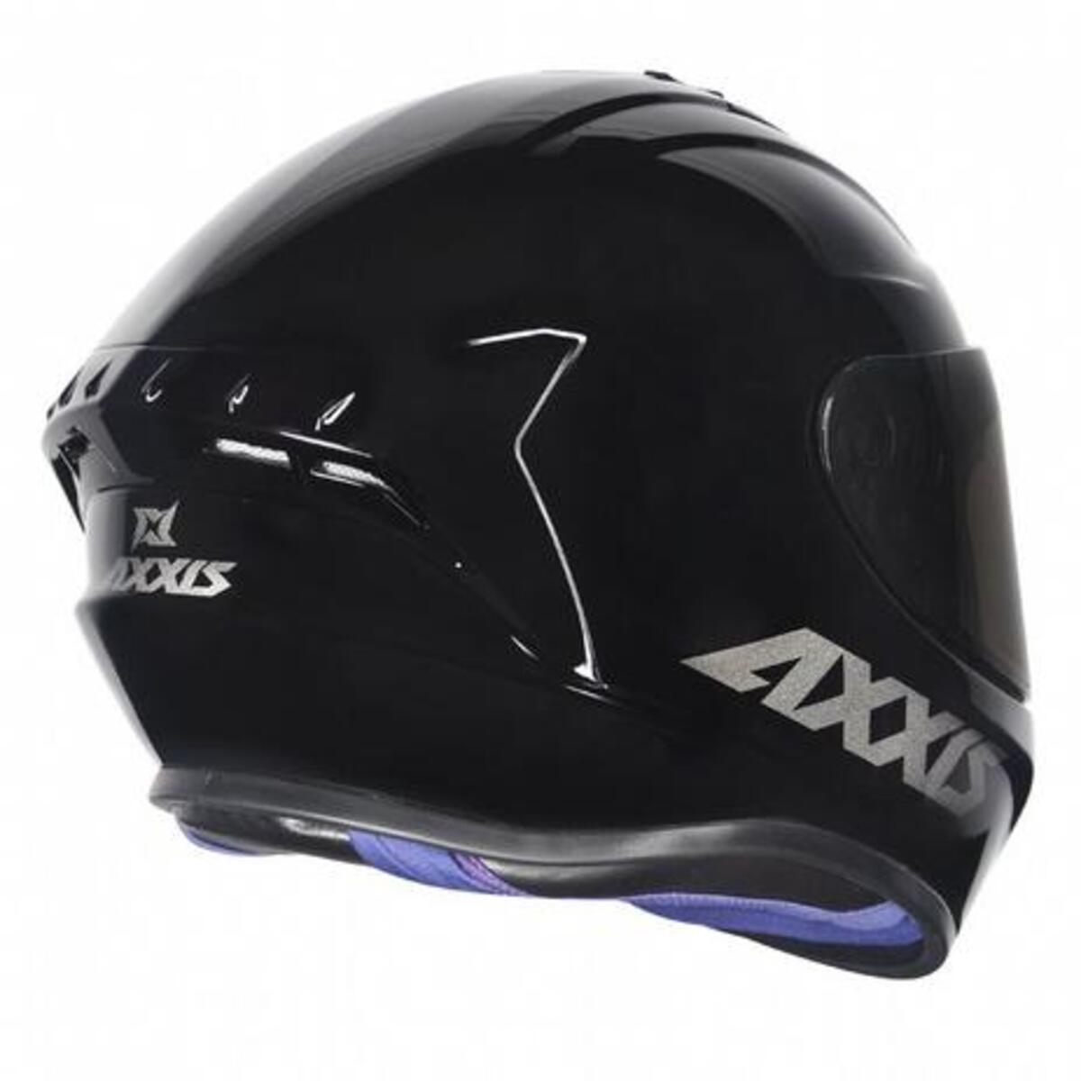 CAPACETE AXXIS DRAKEN SOLID GLOSS BLACK 62/XL