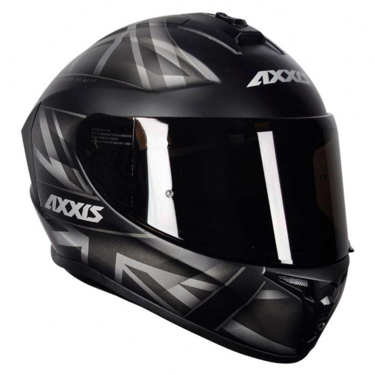 CAPACETE AXXIS DRAKEN UK MATTE BLACK/GREY 56/S