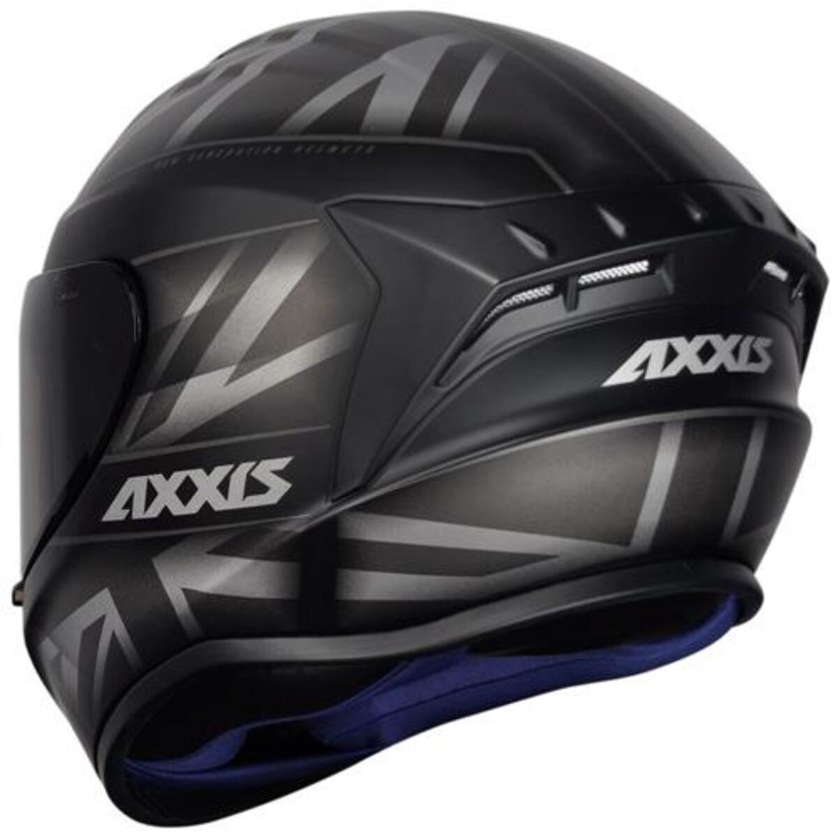 CAPACETE AXXIS DRAKEN UK MATTE BLACK/GREY 62/XL