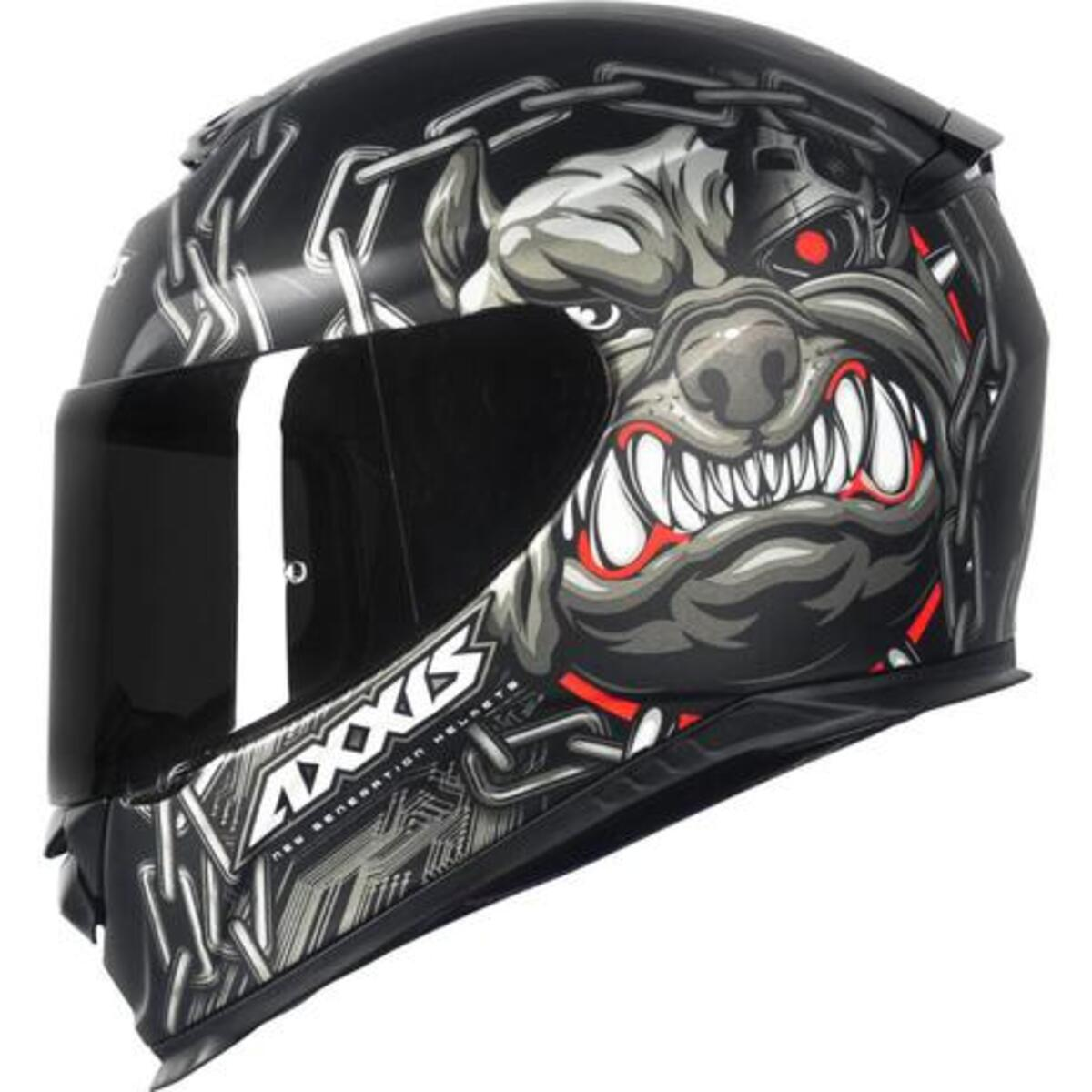 CAPACETE AXXIS EAGLE BULL CYBER MATTE BLACK/GREY 56/S