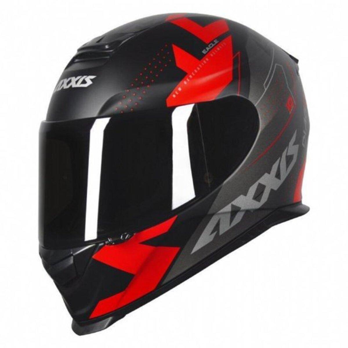 CAPACETE AXXIS EAGLE DIAGON MATTE BLACK/RED 60/L