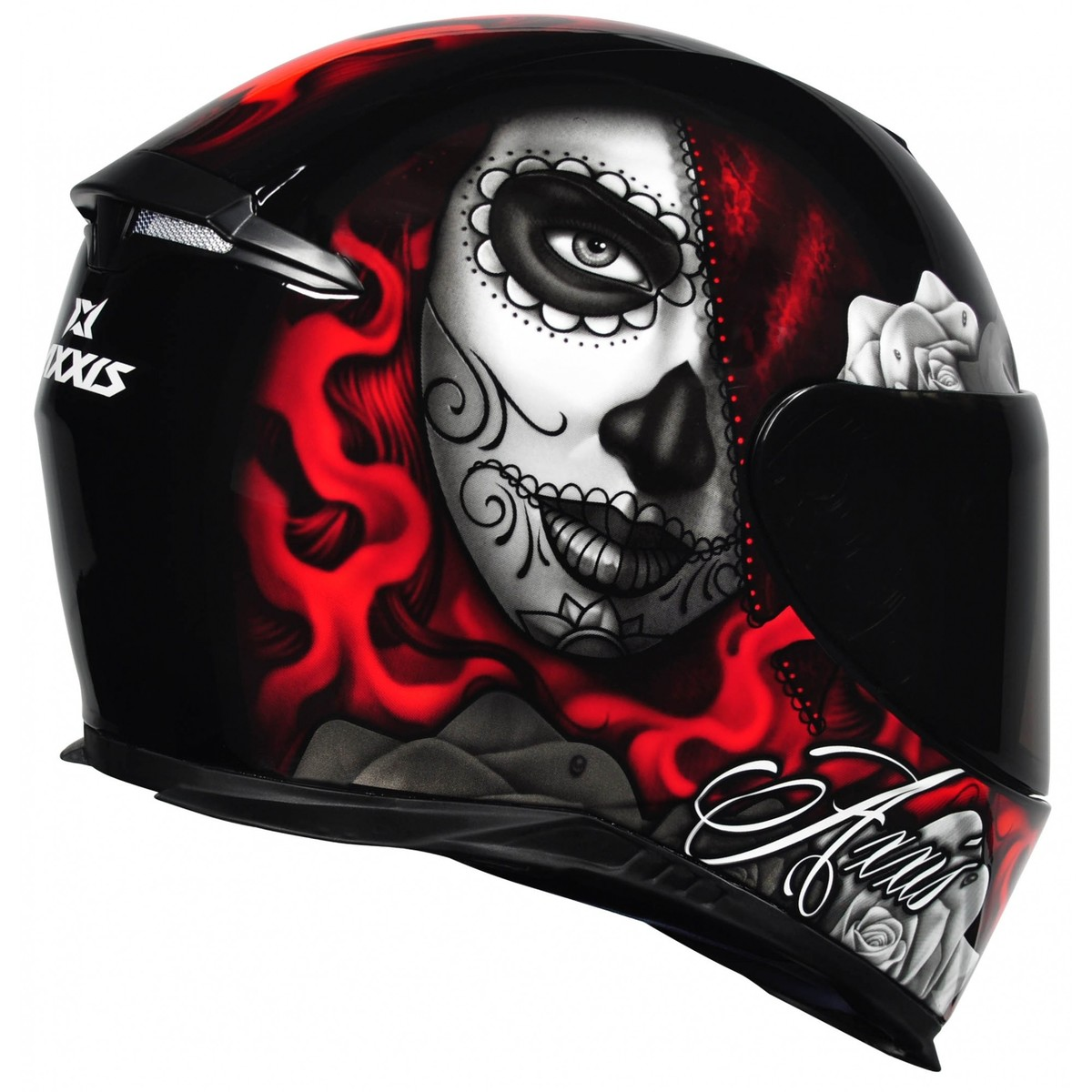 CAPACETE AXXIS EAGLE LADY CATRINA GLOSS RED 60/L