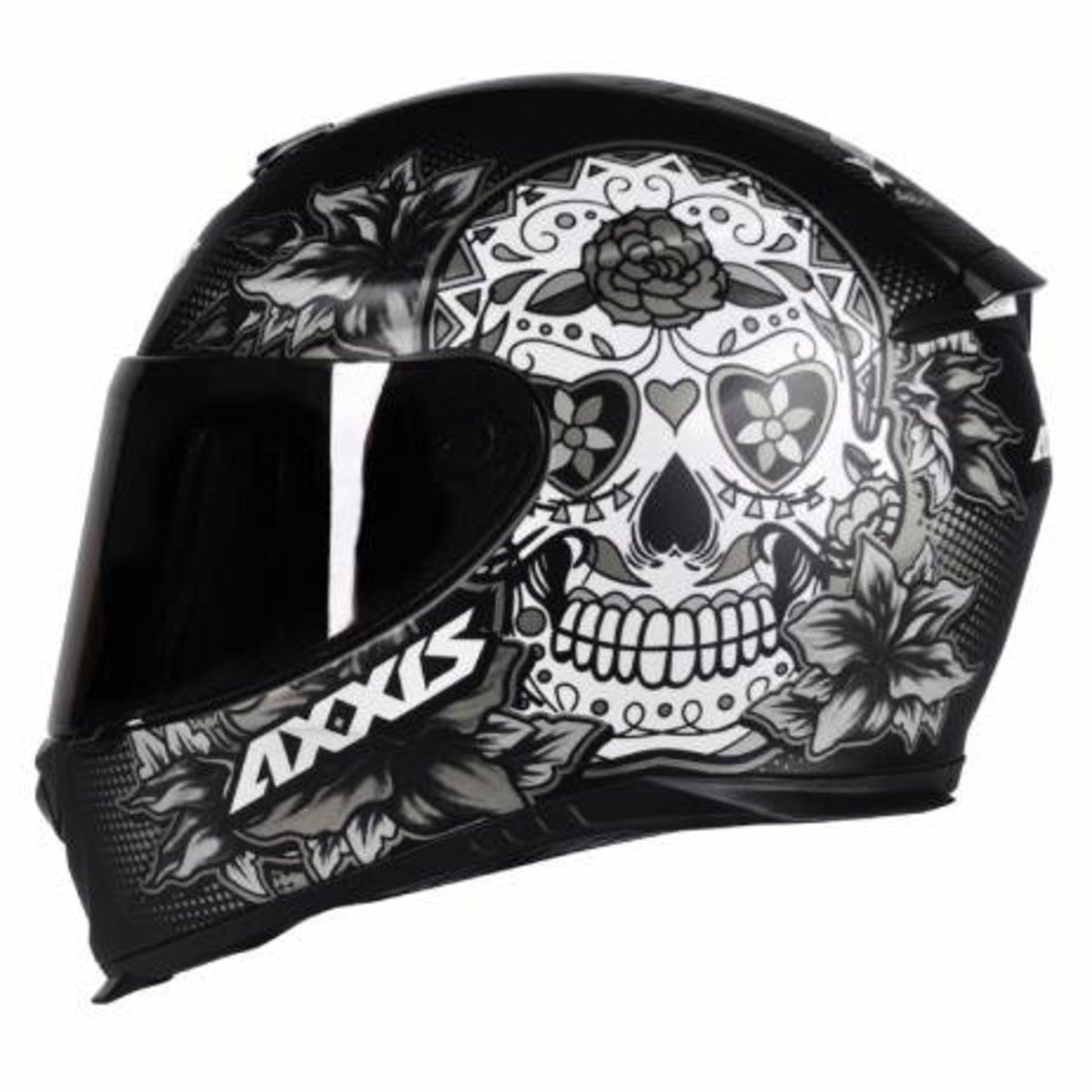 CAPACETE AXXIS EAGLE SKULL MATTE BLACK/GREY 62/XL